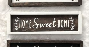 Wood Sign Wooden Sign Home Sweet Home Galley Wall Housewarming Gift Farmhouse Si...