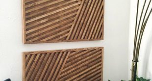 Holz Kunst Holz Wandkunst geometrische Holz Kunst geometrische Wand #WoodWorking