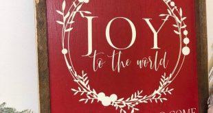 Joy To The World, 18x18,farmhouse decor, rustic sign, wood sign, farmhouse sign, Christmas Sign,