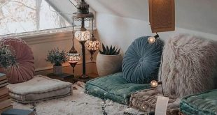 Raumdekoration, Wohnakzente, böhmische Häuser, Vintage-Dekor, helle und luftige