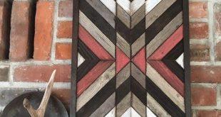 Reclaimed wood wall art - Southwestern wood wall art - Navajo Aztec inspired