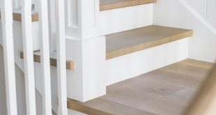 """Staircase Treads are 1"""" thick solid white oak to match wood floor Staircase Tr..."""
