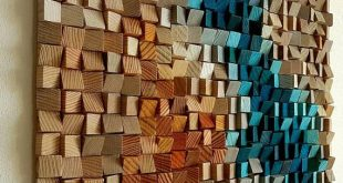"Wood wall art ""Blue Danube"" 20""×16"""