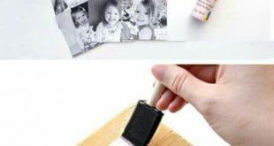 12 DIY-Ideen zum Übertragen von Fotos auf Holz  - Craft Ideas - #auf #Craft #DI...