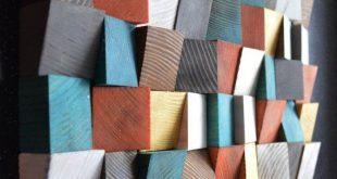 Geometrische Holz Kunst, Holz-Kunst, 3D Wand-Kunst, abstrakte Malerei auf Holz, Wandmontage, Holz Muster, Holz-Mosaik, Holz Wandpaneele