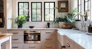 ✔92 stunning black white wood kitchen decor ideas 12