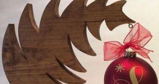 Christbaumschmuck Aufhänger – Christbaumschmuckhalter – Christbaumschmuck … #WoodWorking