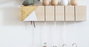 [ DIY ] Eine recycelte Holzlatte mit einem sauberen Schlüssel – La Délicate Parenth
