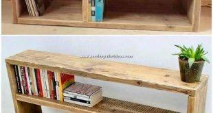 Ein Bücherregal aus Holzpalettenmaterial zusammenstellen zu lassen, ist ein … #WoodWorking