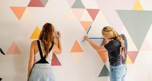 Ein DIY-geometrisches Wandbild mit BEHR Paint