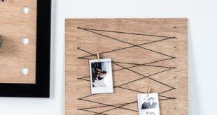 Erstellen Sie ein einfaches Memo-Board mit Wäscheklammer, um wichtige Notizen z...