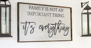 Family is Not an Important Thing | Wood Sign