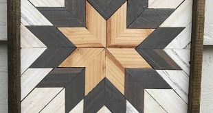 Handmade Geometric Wood Art. Each piece is stained, cut, and arranged to create ...