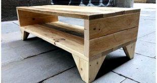 Hervorragender Recyclingpaletten-Nachttisch aus Holz