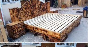Hier sind einige Ideen für das Erstellen von wiederverwendeten Holzpaletten aus ...