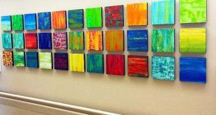 Holz-Wand-Kunst | Bemalte Holz-Wand-Kunst | Gesundheits-Kunst | Moderne geometrische Kunst | Original Gastfreundschaft Kunst | Rosemary Pierce Moderne Kunst