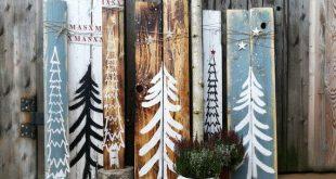 Hölzerne Schilder Weihnachten Holz Shabby Vintage Weihnachtsschmuck