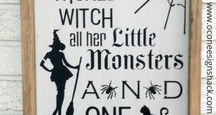Home of The Wicked Witch, Little Monsters, Handsome Devil Framed Rustic Wood Sign