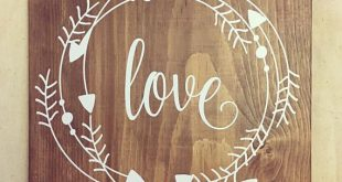Love Wood Sign, love sign, love sign, wood sign, Rustic Sign, wall decor, shabby...