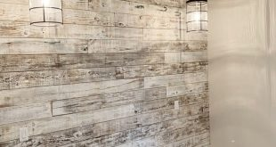 My latest reclaimed wood wall with a white-washed finish.  #MarnieDailyDesign #M...