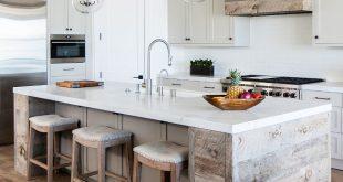 Reclaimed Plank Shiplap kitchen island Reclaimed Plank Shiplap kitchen hood The ...