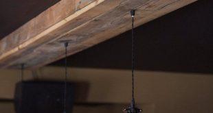 Wählen Sie Größe auf Bestellung gefertigt zurückgefordert Scheune Holzverkleidung Halterung mit Käfig Edison-Lampen für //Bar//Restaurant //Home - rustikale Beleuchtung
