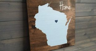 Wisconsin Wood Sign | Wisconsin Home Sign | Wisconsin sign | Moving gift | Wisconsin decor | Housewarming gift | State sign | State wall art