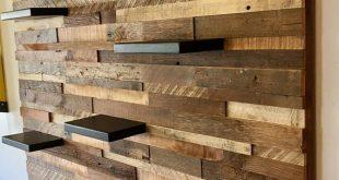 Zurückgefordert Scheune Holz Wandkunst (mit 7 Regalen