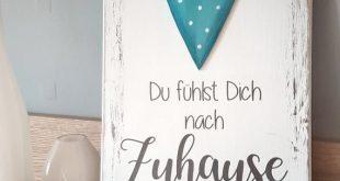 """pfeifers-Holzschild """"Du fühlst Dich nach Zuhause an"""""""